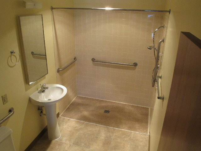 Apartment homes available at copperstone retirement of derby - Handicapped bathroom design ideas and interior ...
